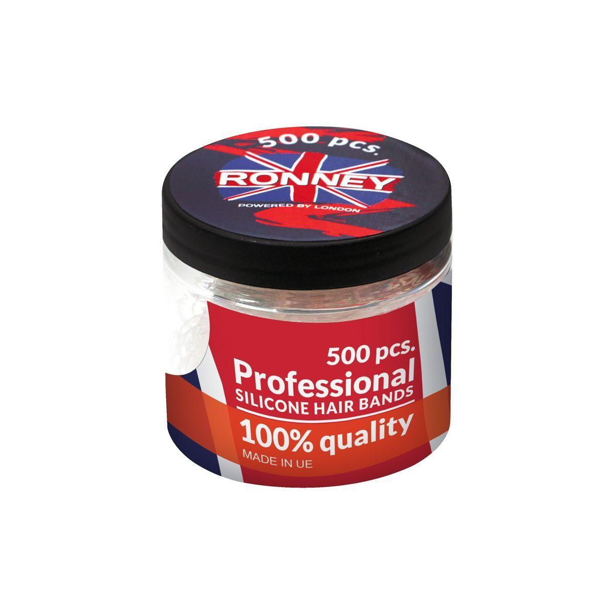 Profesionální silikonové elastické gumičky do vlasů barevné 50 ks