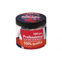 Profesionální silikonové elastické gumičky do vlasů černé 500 ks