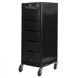 GABBIANO Kadeřnický úložný stolek FT65-A černý