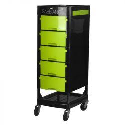 GABBIANO  Kadeřnický úložný stolek FT65 černo/zelená