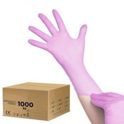 Jednorázové nitrilové rukavice růžové - L - karton 10ks (VP)