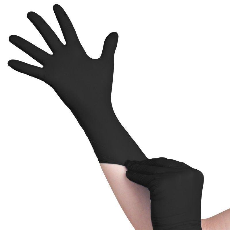 Jednorázové nitrilové rukavice černé