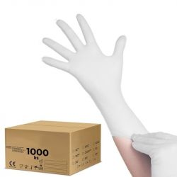 Jednorázové nitrilové rukavice bílé XL - karton 10ks (VPT)