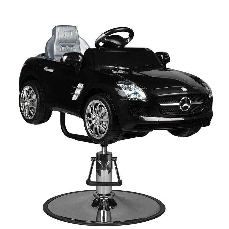 Dětské kadeřnické křeslo - autíčko MERC ROADSTER černé
