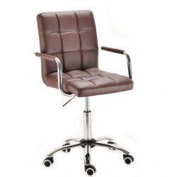 Kosmetická židle na kolečkách HC-1015KP hnědá