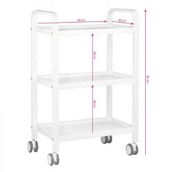 Kosmetický odkládací stolek HS09 - bílý