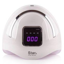 UV LED lampa star 2 72W silver