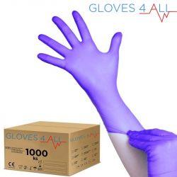Jednorázové nitrilové rukavice modro-fialové M - karton 10ks (VP)