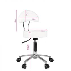 Kosmetický taburet AM-309 bílý
