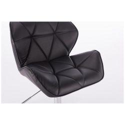 Kosmetická židle MILANO na podstavě s kolečky - černá