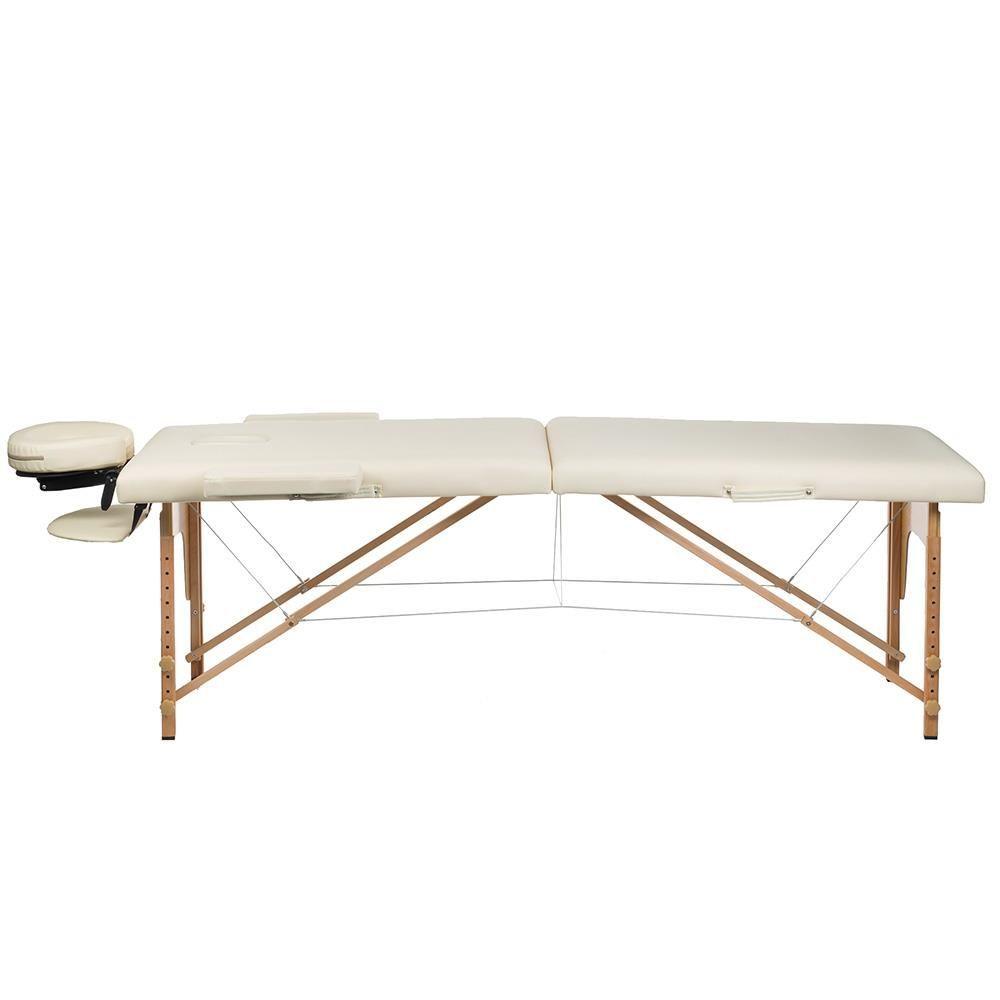 Masážní a rehabilitační skládací stůl BS-523 - krémový